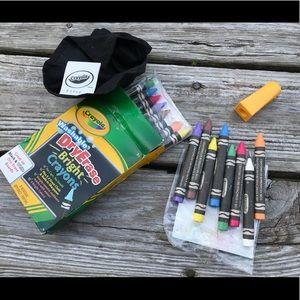 2 Packs CRAYOLA Dry Erase Crayons Sharpener Cloth